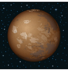 Planet mars in space vector