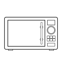 Microwave icon vector