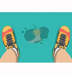 Sweat on the floor vector