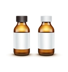 Blank glass medical bottle isolated vector