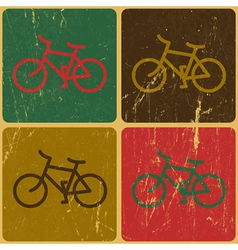 Retro bicycles background vector