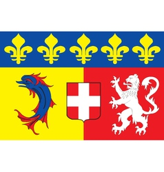 Rhone alpes region flag vector