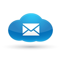 Cloud computing mail icon vector