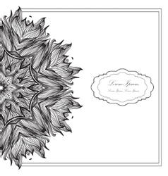 Ornamental round mandala geometric circle element vector