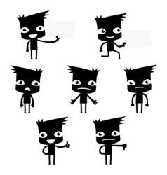 Set of funny cartoon man vector
