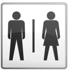 Male and female toilet sign vector