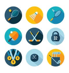 Set of sports icons vector