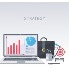 Laptop portfolio working process vector