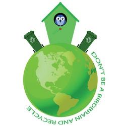 Bird house recycle vector