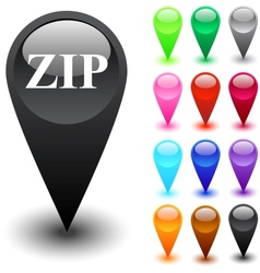 Zip button vector