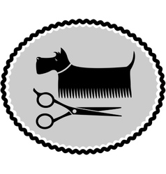 Dog haircut sign vector