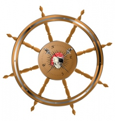 Pirate steering wheel vector