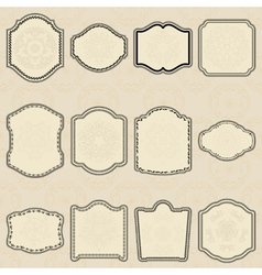 Set of design elements-vintage labels vector