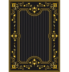 Classical gold frame with oriental pattern vector