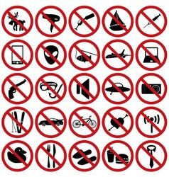Restriction sign set eps10 vector
