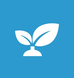 Plant icon white on the blue background vector