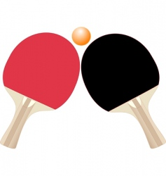 Table tennis rackets vector