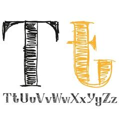 Sketch alphabet new 04 vector