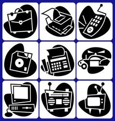 Retro computer icons vector