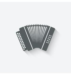Accordion music design element vector
