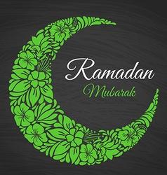 Ramadan mubarak islamic greeting background vector