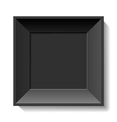 Black photo frame vector