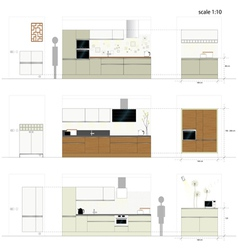 Kitchen furniture - interior vector
