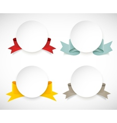 Set of badges with ribbons vector