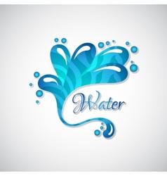 Business logo of blue water splatter web icon vector