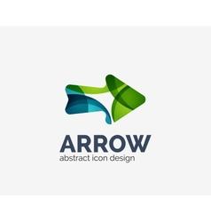 Clean moden wave design arrow logo vector
