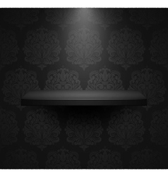 Dark empty isolated shelf vector