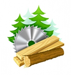 Woodworking industry icon vector