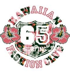 Hawaiian fashion club vector