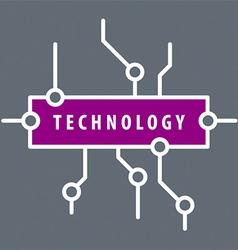Logo purple chip technology vector