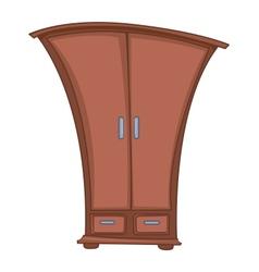 Cartoon home furniture wardrobe vector
