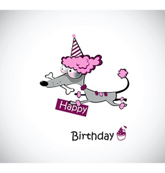 Birthday poodle vector