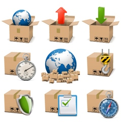 Shipment icons set 9 vector