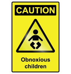 Children hazard sign vector
