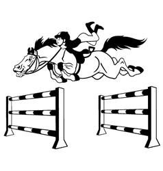 Rider boy black white vector