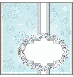 Winter background with ornamental frame vector