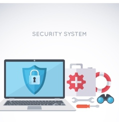 System security background vector