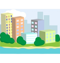 Town homes vector