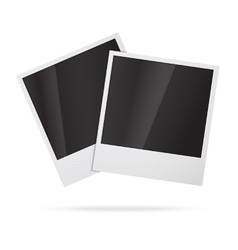 Two blank instant photo frames vector