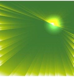 Green star burst background vector