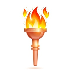 Torch icon isolated vector