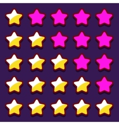 Space game rating stars icons buttons vector