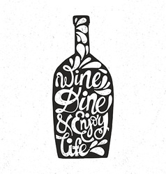 Bottle shaped quote vector
