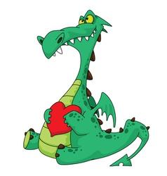 Dragon in love vector