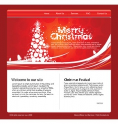 Christmas web template vector