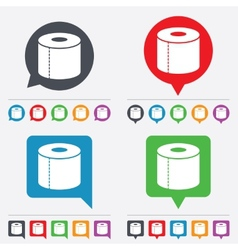 Toilet paper sign icon wc roll symbol vector